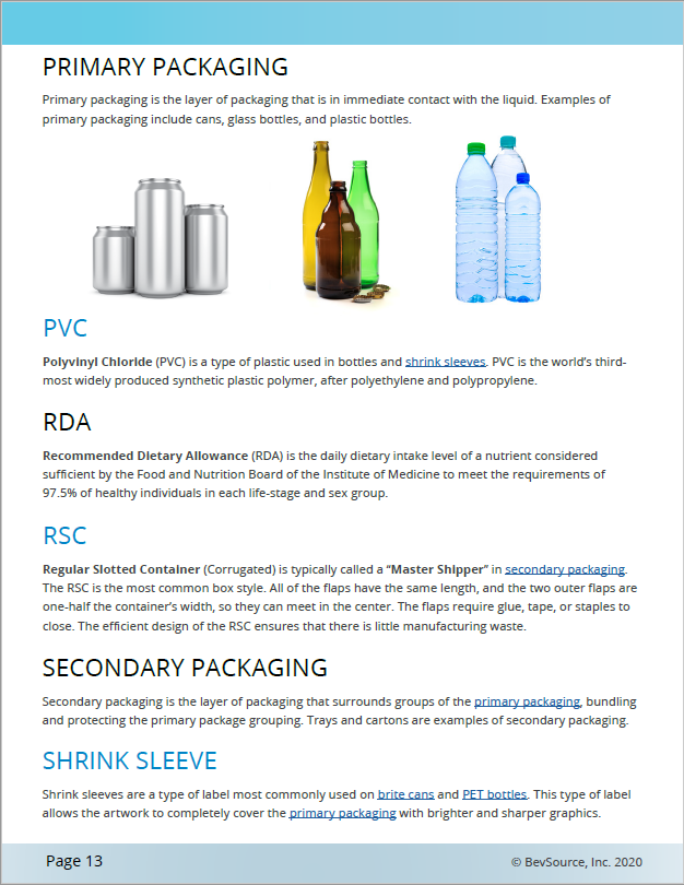 The Ultimate Beverage Business Glossary Sample Page 2
