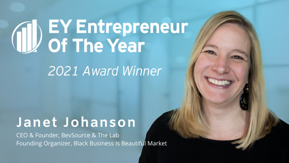 Janet Johanson of BevSource, The Lab, Black Business Is Beautiful Market, Named as an Entrepreneur of the Year 2021 Heartland Award Winner